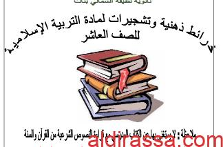 خرائط ذهنية وتشجيرات اسلامية الصف العاشر الفصل الثاني