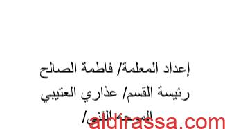 مذكرة اسلامية الصف الثالث الوحدة الأولى مدرسة عيسى حسين اليوسفي 2018 2019.