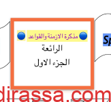 مذكرة الأزمنة والقواعد انجليزي للصف السادس إعداد خالد سلمان